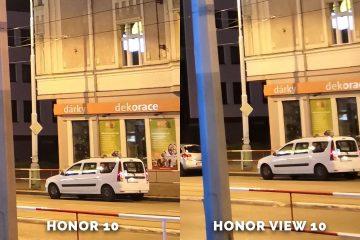 Honor 10 vs. Honor View 10 fototest auto