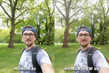 Honor 10 vs. Honor View 10 selfie kamera test