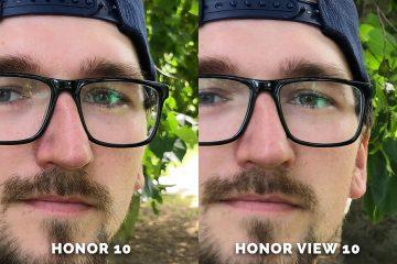 Honor 10 vs. Honor View 10 srovnani fotografie selfie