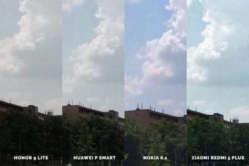 Huawei vs Honor vs Xiaomi vs Nokia fototest obloha
