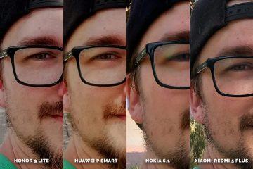 Huawei vs Honor vs Xiaomi vs Nokia fototest selfie detail