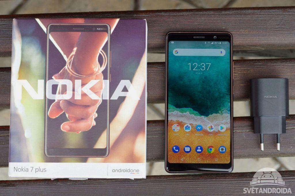 Obsah balení Nokia 7 Plus