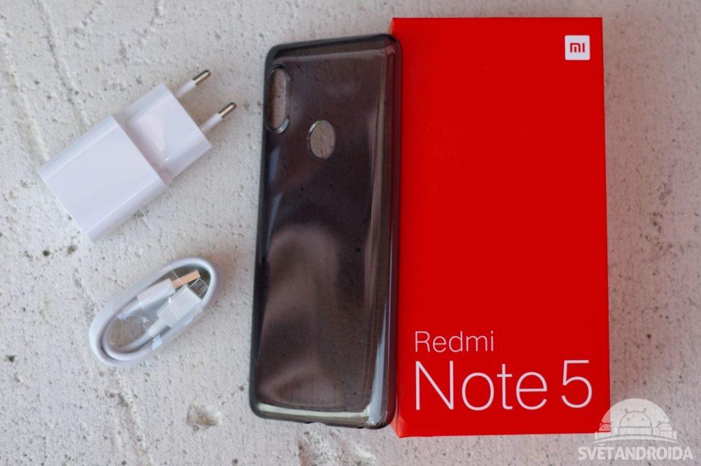 Xiaomi Redmi Note 5 obsah balení