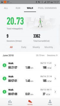 aplikace watch amazfit android chuze