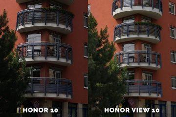 fototest Honor 10 vs. Honor View 10 dum detail