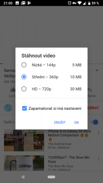youtube premium stahovani