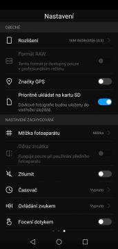 Huawei P20 lite aplikace nastaveni fotaku