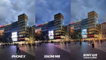 apple iphone x vs xiaomi mi 8 foto test zhorsene podminky
