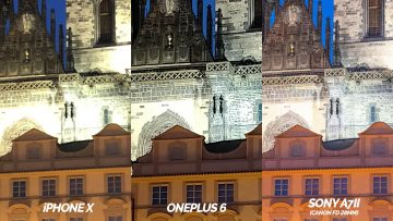 detail nocni fotografie test oneplus 6 vs apple iphone X