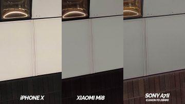 detail zhorsene podminky xiaomi mi 8 vs apple iphone x