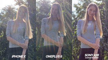fototest oneplus 6 vs iphone X modelka detail