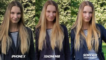 foto testovani iphone x vs xiaomi mi 8 zena
