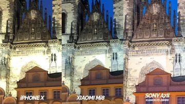 iphone x vs xiaomi mi 8 nocni fotografie detail