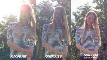 mi 8 vs oneplus 6 vs sony a7ii srovnani fotografii - osoba proti slunci