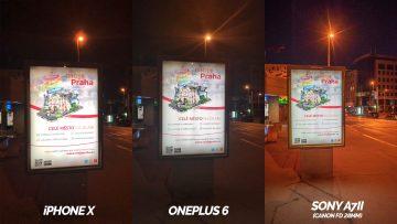 nocni tabule fotografie oneplus 6 vs iphone X