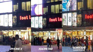 nocni ulice fototest xiaomi mi 8 vs apple iphone x
