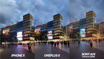 nocni ulice oneplus 6 vs iphone X