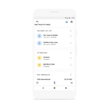 personalizovane informace google asistent