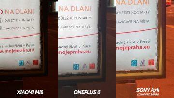 reklama detail nocni foto test oneplus 6 vs xiaomi mi 8 vs sony zrcadlovka