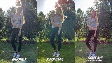 srovnani fotoaparatu xiaomi mi 8 vs iphone x modelka