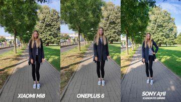 srovnani fotoaparatu xiaomi mi 8 vs oneplus 6 vs sony a7ii -modelka
