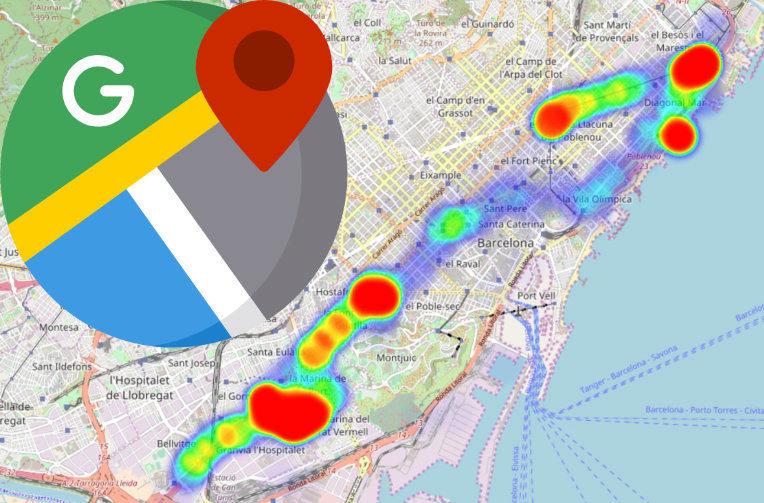 teplotni mapa heatmap google mapy