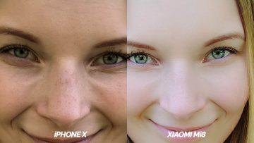 test selfie kamery detail apple iphone x vs xiaomi mi 8