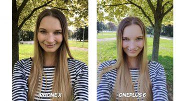 test selfie kamery iphone X vs oneplus 6