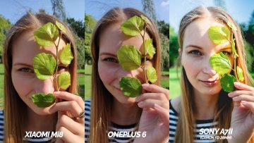 xiaomi mi 8 vs oneplus 6 vs zrcadlovka sony fototest - detail obličej