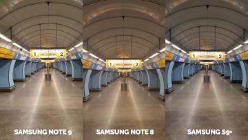 Fototest nocni metro - Note 9 vs Note 8 vs S9
