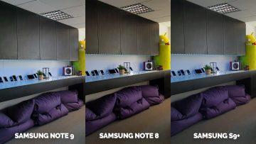 Fototest redakce Samsung Galaxy Note 9 vs Note 8 vs S9