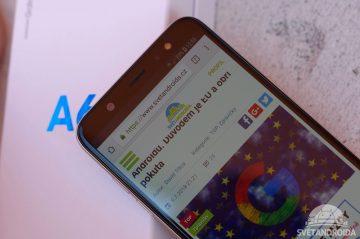 Samsung Galaxy A6+ displej