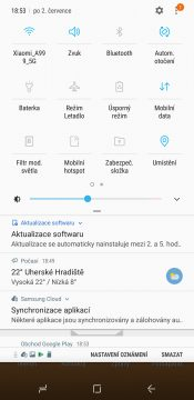 Samsung Galaxy A6+ přepínače