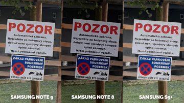 detail pozor značka foto testovani samsung telefony note 8 note 8 galaxy s9
