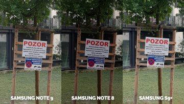 fotografie test pozor note 9 vs note 8 vs galaxy s9