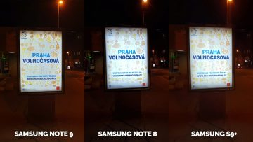 nocni fototest - Note 9 vs Note 8 vs S9
