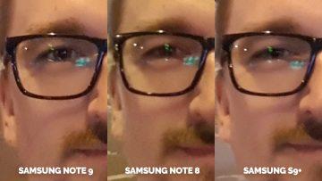 nocni selfie detail samsung galaxy test fotoaparatu