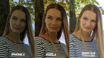 detail modelky fototest pixel 2 vs iphone X