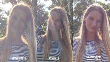 fototest pixel 2 vs iphone X modelka detail