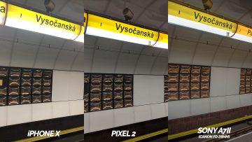 metro fotografie vysočanská - google pixel 2 vs apple iphone X