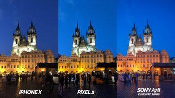 nocni praha fototest pixel 2 vs iphone X