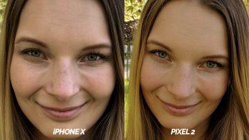 selfie kamera test google pixel 2 vs iphone X