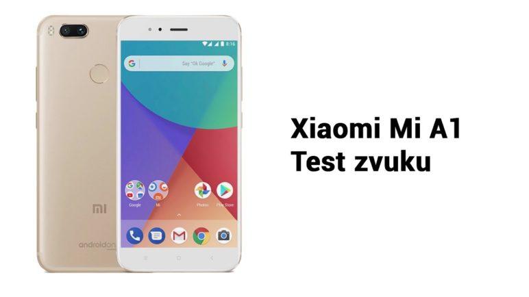 Telefon Xiaomi Mi A1 - test nahrávání zvuku