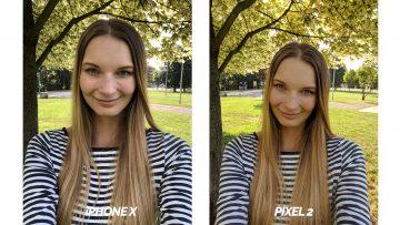 test selfie kamery iphone X vs pixel 2