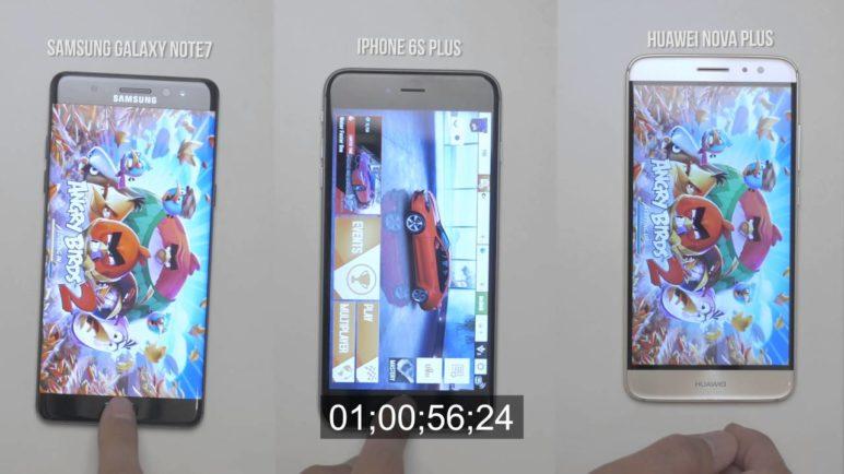 Samsung Galaxy Note7 vs Huawei Nova Plus vs iPhone 6s Plus - Speed test