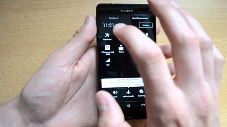 Sony Xperia Z3 Compact - prostředí systému Android
