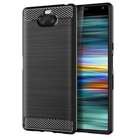 leeHUR Carbon Fiber TPU Phone Case for Sony Xperia 10