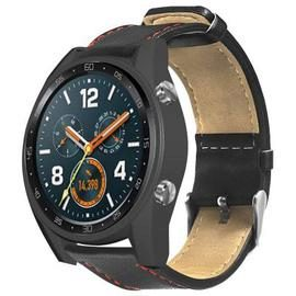 TAMISTER Single-Sided Leather Watch Strap for HUAWEI GT / GT Ative