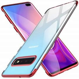 Slim Shock Clear TPU Plating Phone Case for Samsung Galaxy S10 Plus